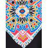 High Waisted Tribal Print Maxi Skirt - MULTI