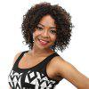 Short Side Bang Fluffy Afro Kinky Curly Colormix Synthetic Wig - BLACK BROWN