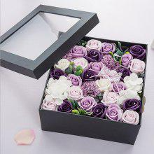 One Box Valentine's Present Scented Flower Soap Gift