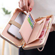 Bowknot PU Leather Clutch Wallet