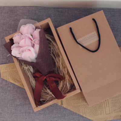 7Pcs Valentine's Present Scented Roses Bouquet Soap Gift Box