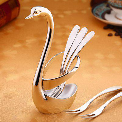 Knives and Forks Stainless Steel Swan Shape Base Holder