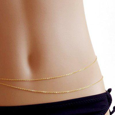Simple Layered Alloy Belly Chain