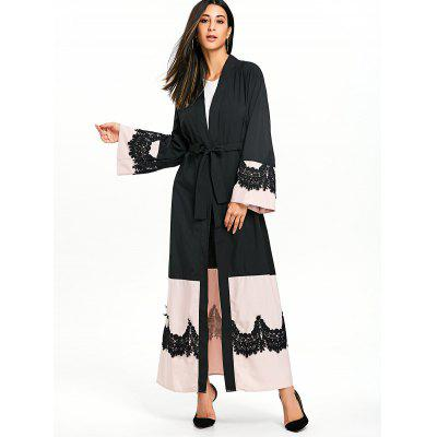 Bell Sleeve Kimono Coat with Tie BeltJackets &amp; Coats<br>Bell Sleeve Kimono Coat with Tie Belt<br><br>Clothes Type: Trench<br>Collar: Collarless<br>Embellishment: Lace<br>Material: Polyester<br>Package Contents: 1 x Trench Coat<br>Pattern Type: Others<br>Season: Fall, Spring<br>Shirt Length: X-Long<br>Sleeve Length: Full<br>Style: Fashion<br>Type: Slim<br>Weight: 0.5000kg