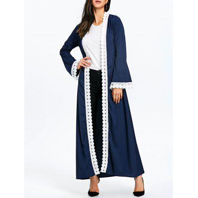 Maxi Arabic Trench Coat with Tie Belt