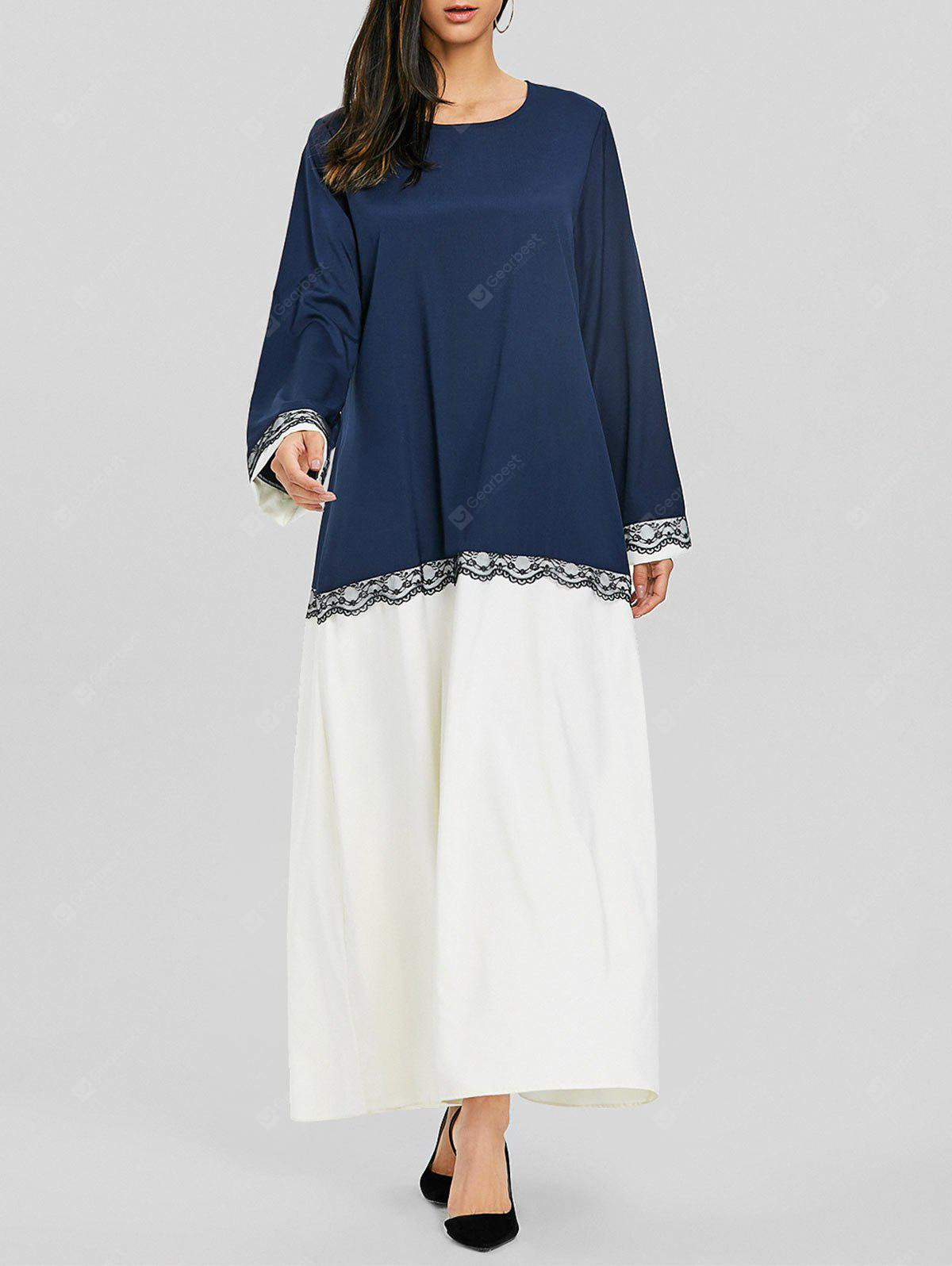 Two Tone Middle Eastern Maxi Dress