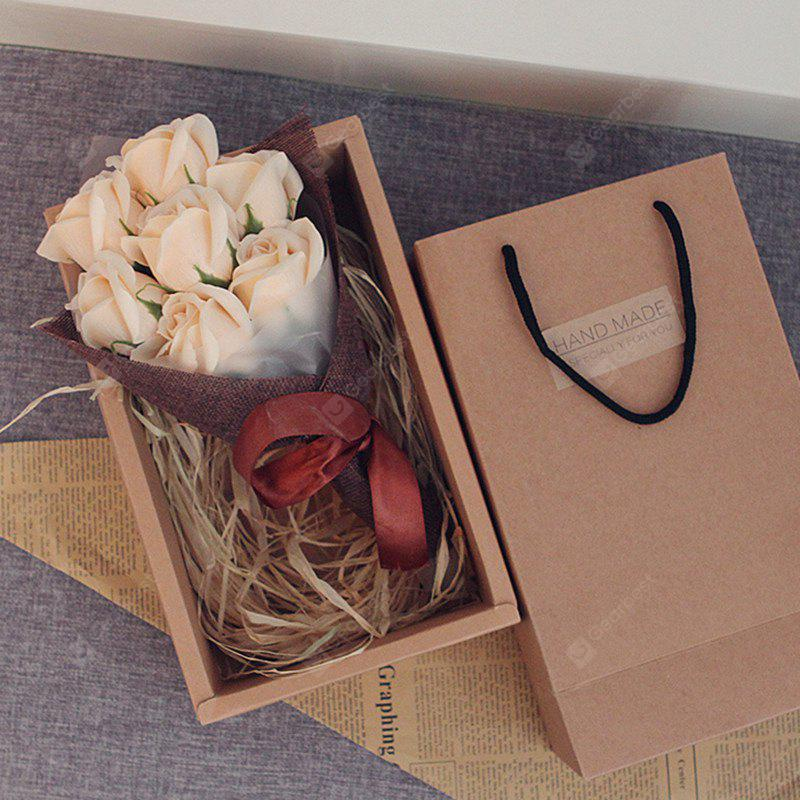 7Pcs Valentine's Gift Scented Roses Bouquet Soap Gift Box