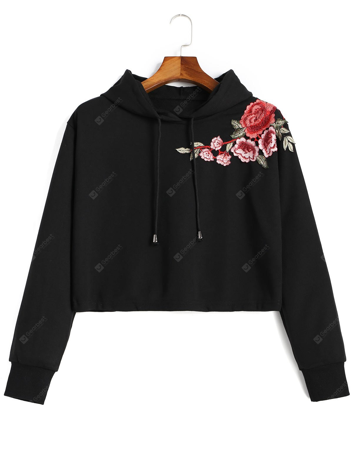 Applique Cropped Hoodie