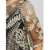 Plus Size Sheer Lace Scalloped Top - GOLDEN