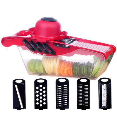 5-in-1 Multifunction Fruit Vegetable Interchangeable Blades Slicer