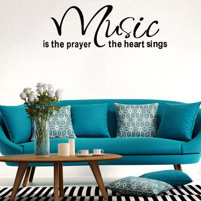 Music Letters Words Patterned Decorative Wall Sticker