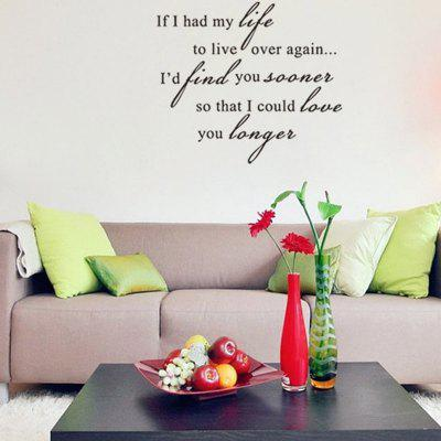 Sentence Patterned Wall Sticker about Love