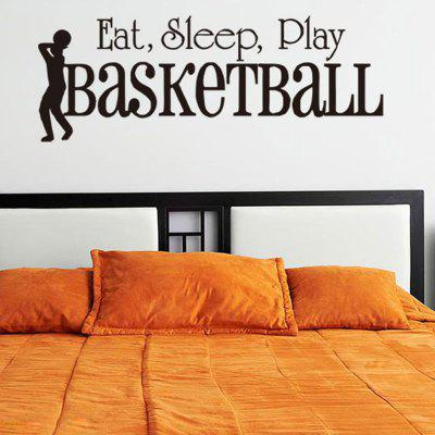 Play Basketball Letters Patterned Sport Wall Sticker
