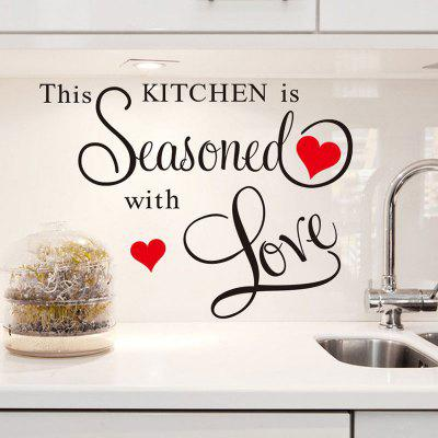 This Kitchen Is Seasoned with Love Letters Patterned Wall Sticker