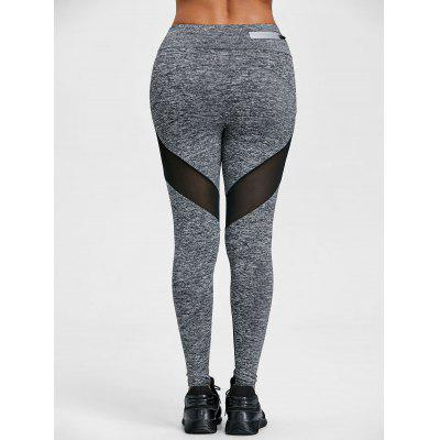 Schiere Mesh-Panel hohe Taille Workout Leggings