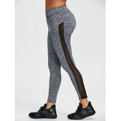 Space Dye schiere Mesh-Panel Sport Leggings