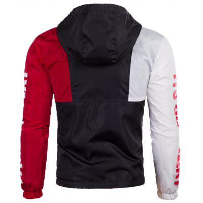 Graphic Zip Up Color Block Lightweight JacketMens Jackets &amp; Coats<br>Graphic Zip Up Color Block Lightweight Jacket<br><br>Closure Type: Zipper<br>Clothes Type: Jackets<br>Collar: Hooded<br>Material: Polyester<br>Occasion: Sports, Holiday, Going Out, Daily Use, Casual<br>Package Contents: 1 x Jacket<br>Season: Fall, Spring<br>Shirt Length: Regular<br>Sleeve Length: Long Sleeves<br>Style: Casual, Fashion, Streetwear<br>Weight: 0.3400kg