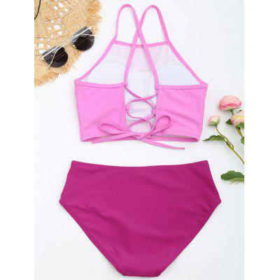 Cross Back High Neck Bikini SetLingerie &amp; Shapewear<br>Cross Back High Neck Bikini Set<br><br>Bra Style: Padded<br>Elasticity: Elastic<br>Embellishment: Criss-Cross<br>Gender: For Women<br>Material: Nylon, Spandex<br>Neckline: High Neck<br>Package Contents: 1 x Bra  1 x Briefs<br>Pattern Type: Others<br>Support Type: Wire Free<br>Swimwear Type: Bikini<br>Waist: Natural<br>Weight: 0.2200kg
