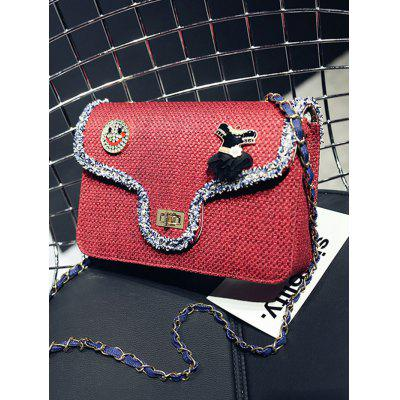 Emoji Embroidery Embellished Crossbody BagCrossbody Bags<br>Emoji Embroidery Embellished Crossbody Bag<br><br>Closure Type: Hasp<br>Embellishment: Chains<br>Gender: For Women<br>Handbag Type: Crossbody bag<br>Main Material: Polyester<br>Occasion: Versatile<br>Package Contents: 1 x Crossbody Bag<br>Pattern Type: Patchwork<br>Size(CM)(L*W*H): 24*6.5*16.5CM<br>Style: Fashion<br>Weight: 0.6000kg