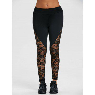 Floral Lace Panel Workout LeggingsPants<br>Floral Lace Panel Workout Leggings<br><br>Closure Type: Elastic Waist<br>Embellishment: Lace<br>Fit Type: Skinny<br>Length: Normal<br>Material: Polyester<br>Package Contents: 1 x Leggings<br>Pant Style: Pencil Pants<br>Pattern Type: Solid<br>Style: Casual<br>Waist Type: Mid<br>Weight: 0.1900kg