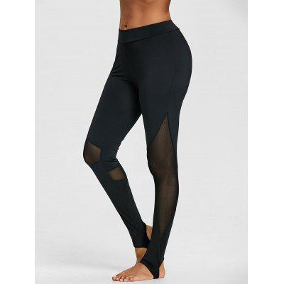 Schiere Mesh Panel Sport Steigbügel Leggings