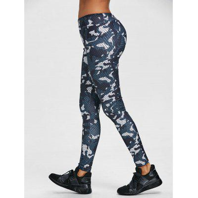 Geometrische Print Skinny Gym Leggings
