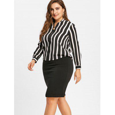 Striped High Low V Neck Plus Size BlousePlus Size Tops<br>Striped High Low V Neck Plus Size Blouse<br><br>Collar: V-Neck<br>Material: Polyester<br>Package Contents: 1 x Blouse<br>Pattern Type: Striped<br>Season: Spring, Fall<br>Shirt Length: Regular<br>Sleeve Length: Full<br>Style: Fashion<br>Weight: 0.3000kg