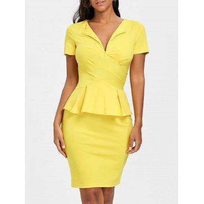 Pencil Peplum Dress