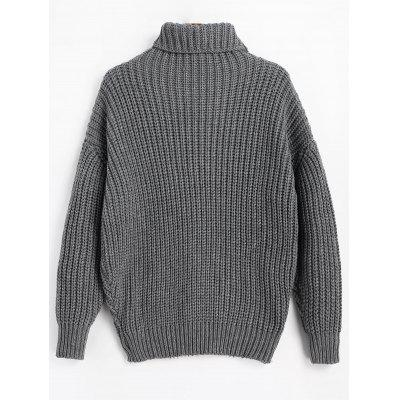 Longline Turtleneck Chunky SweaterSweaters &amp; Cardigans<br>Longline Turtleneck Chunky Sweater<br><br>Collar: Turtleneck<br>Material: Acrylic, Polyester<br>Package Contents: 1 x Sweater<br>Sleeve Length: Full<br>Style: Casual<br>Type: Pullovers<br>Weight: 0.6900kg