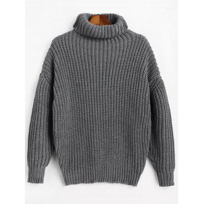Longline Turtleneck Chunky Sweater