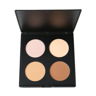 Professional 4 Colors Long Lasting Highlighter Bronzer Palette