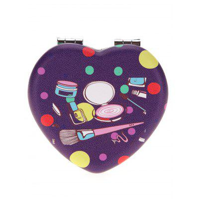Two-sided Heart Shape Makeup Mirror