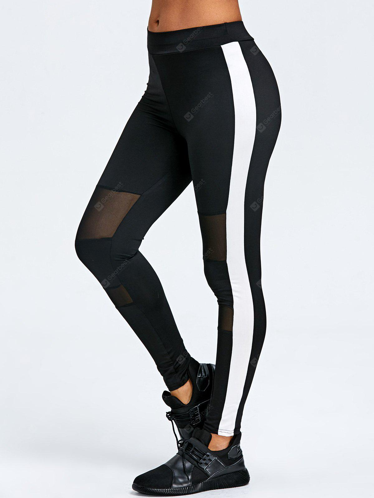 Mesh Insert Two Tone Sports Leggings