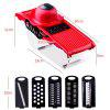 5-in-1 Multifunction Fruit Vegetable Interchangeable Blades Slicer - RED AND BLACK