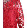Peplum Lace Blouse - RED