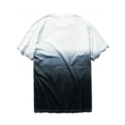 Dip Dye Ombre TeeMens Short Sleeve Tees<br>Dip Dye Ombre Tee<br><br>Collar: Round Neck<br>Material: Polyester<br>Package Contents: 1 x T-shirt<br>Pattern Type: Others<br>Sleeve Length: Short<br>Weight: 0.2700kg