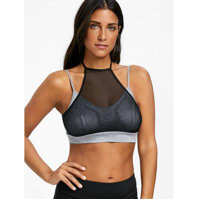 Two Tone Halter Neck Sporty BraLingerie &amp; Shapewear<br>Two Tone Halter Neck Sporty Bra<br><br>Bra Style: Bralette<br>Closure Style: Back Closure<br>Cup Shape: Full Cup<br>Embellishment: None<br>Materials: Rayon, Spandex<br>Package Contents: 1 x Sporty Bra<br>Pattern Type: Solid<br>Strap Type: Halter<br>Support Type: Wire Free<br>Weight: 0.1100kg