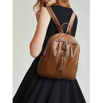 Tassels PU Leather BackpackBackpacks<br>Tassels PU Leather Backpack<br><br>Closure Type: Zipper<br>Embellishment: Tassel<br>Gender: For Women<br>Handbag Size: Medium(30-50cm)<br>Handbag Type: Backpack<br>Main Material: PU<br>Occasion: Casual<br>Package Contents: 1 x Backpack<br>Pattern Type: Solid<br>Size(CM)(L*W*H): 32*11*31CM<br>Style: Casual<br>Weight: 1.2000kg