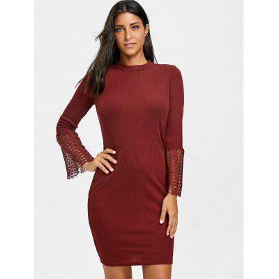 Lace Insert Knit Bodycon DressSweater Dresses<br>Lace Insert Knit Bodycon Dress<br><br>Dresses Length: Mini<br>Material: Acrylic, Polyester, Spandex<br>Neckline: Round Collar<br>Occasion: Causal<br>Package Contents: 1 x Dress<br>Pattern Type: Solid Color, Patchwork<br>Season: Fall, Spring<br>Silhouette: Bodycon<br>Sleeve Length: Long Sleeves<br>Style: Brief<br>Weight: 0.3500kg<br>With Belt: No