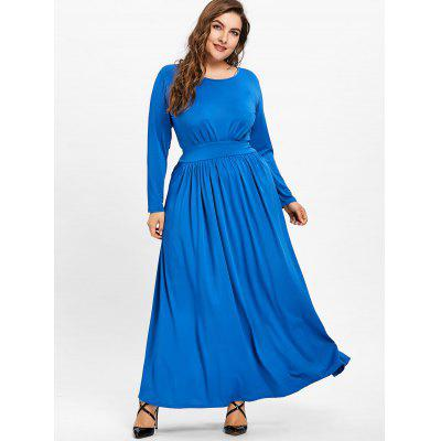 Plus Size Scoop Neck Maxi Tunic DressPlus Size Dresses<br>Plus Size Scoop Neck Maxi Tunic Dress<br><br>Dresses Length: Floor-Length<br>Material: Polyester<br>Neckline: Scoop Neck<br>Package Contents: 1 x Dress<br>Pattern Type: Solid Color<br>Season: Fall, Spring<br>Silhouette: A-Line<br>Sleeve Length: Long Sleeves<br>Style: Casual<br>Weight: 0.6800kg<br>With Belt: No