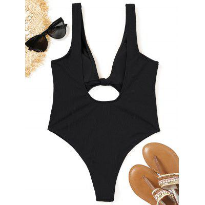 Ribbed Cutout High Cut SwimsuitLingerie &amp; Shapewear<br>Ribbed Cutout High Cut Swimsuit<br><br>Bra Style: Padded<br>Elasticity: Elastic<br>Gender: For Women<br>Material: Nylon, Spandex<br>Neckline: Plunging Neck<br>Package Contents: 1 x Swimsuit<br>Pattern Type: Solid<br>Style: Sexy<br>Support Type: Wire Free<br>Swimwear Type: One Piece<br>Waist: High Waisted<br>Weight: 0.2300kg