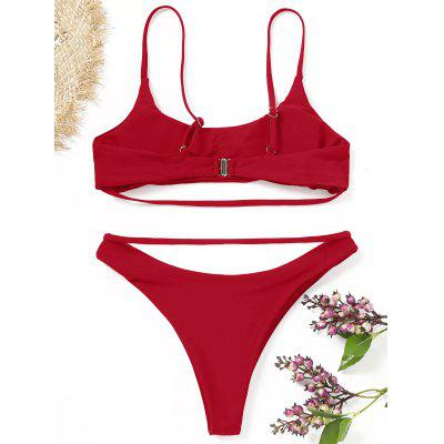 Padding Strappy Bikini SetLingerie &amp; Shapewear<br>Padding Strappy Bikini Set<br><br>Bra Style: Padded<br>Elasticity: Elastic<br>Gender: For Women<br>Material: Nylon, Spandex<br>Neckline: Spaghetti Straps<br>Package Contents: 1 x Bra  1 x Briefs<br>Pattern Type: Solid<br>Style: Sexy<br>Support Type: Wire Free<br>Swimwear Type: Bikini<br>Waist: Natural<br>Weight: 0.2200kg