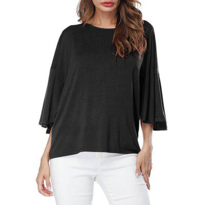 Drop Shoulder Butterfly Sleeve T-shirt