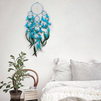 Boho Decor Beaded Feather Handmand Dream CatcherCrafts<br>Boho Decor Beaded Feather Handmand Dream Catcher<br><br>Candle Type: Other<br>Material: Other<br>Package Contents: 1 x Dreamcatcher<br>Use: Home Decoration<br>Weight: 0.2250kg