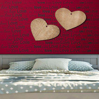 Wall Hanging Two Wooden Hearts Love Letter Print TapestryBlankets &amp; Throws<br>Wall Hanging Two Wooden Hearts Love Letter Print Tapestry<br><br>Feature: Removable, Washable<br>Material: Cotton, Polyester<br>Package Contents: 1 x Tapestry<br>Shape/Pattern: Heart,Letter,Wood<br>Style: Festival<br>Theme: Valentines Day<br>Weight: 0.3100kg