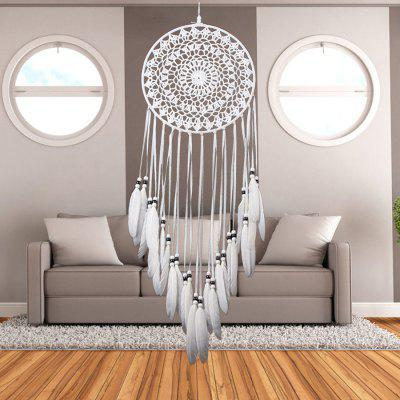 Handmade Dream Catcher Wall Hanging Art DecorCrafts<br>Handmade Dream Catcher Wall Hanging Art Decor<br><br>Candle Type: Other<br>Material: ABS, Polyester<br>Package Contents: 1 x Dream Catcher<br>Size(CM): 75-80cm<br>Use: Home Decoration<br>Weight: 0.6400kg