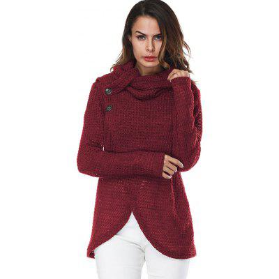 Turtleneck Overlap SweaterSweaters &amp; Cardigans<br>Turtleneck Overlap Sweater<br><br>Collar: Turtleneck<br>Material: Polyester, Spandex<br>Package Contents: 1 x Sweater<br>Pattern Type: Solid<br>Season: Winter, Fall<br>Sleeve Length: Full<br>Style: Fashion<br>Type: Pullovers<br>Weight: 0.4200kg