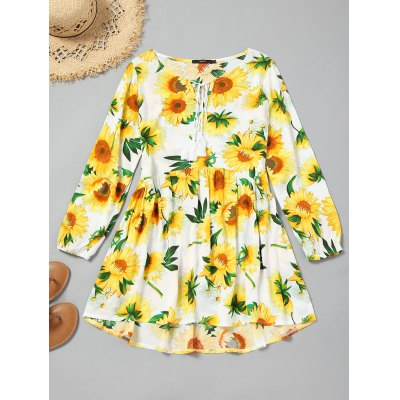 Sunflower String High Low Mini Dress