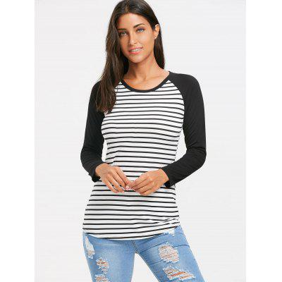 Stripe Panle Raglan Sleeve T-shirtBlouses<br>Stripe Panle Raglan Sleeve T-shirt<br><br>Collar: Round Neck<br>Embellishment: Panel<br>Material: Polyester<br>Package Contents: 1 x T-shirt<br>Pattern Type: Striped<br>Season: Winter, Spring, Fall<br>Shirt Length: Regular<br>Sleeve Length: Full<br>Sleeve Type: Raglan Sleeve<br>Style: Casual<br>Weight: 0.2400kg