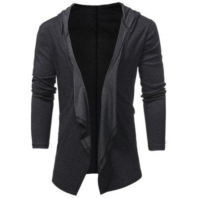 Hooded Open Front Drape Cardigan